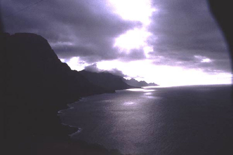 ecard 1001-kustlijn-in-avondzon
